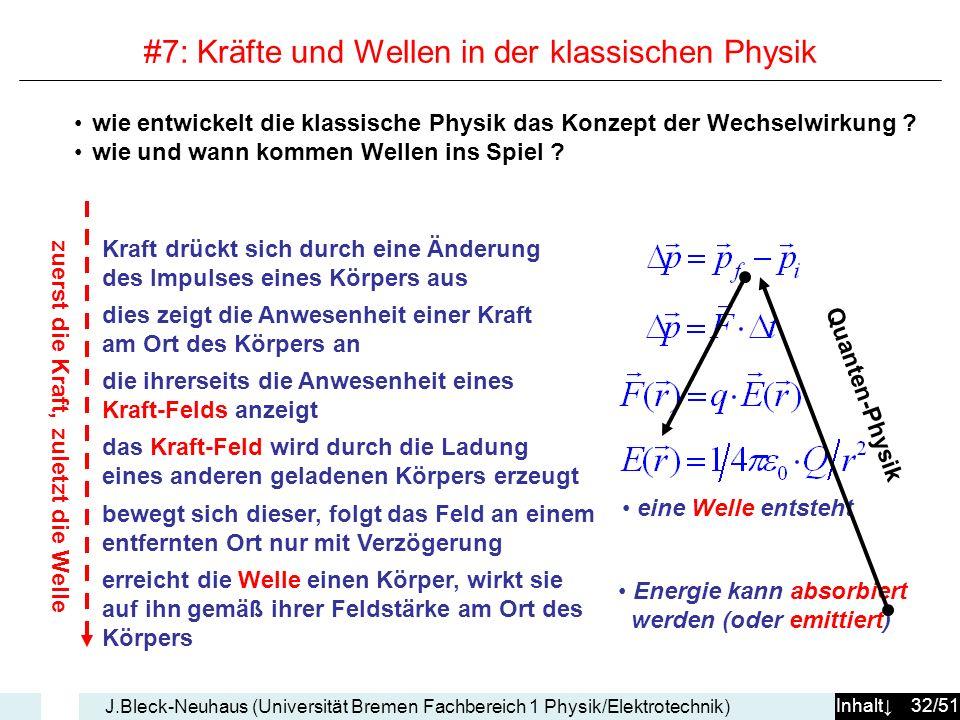 #7: Kräfte und Wellen in der klassischen Physik