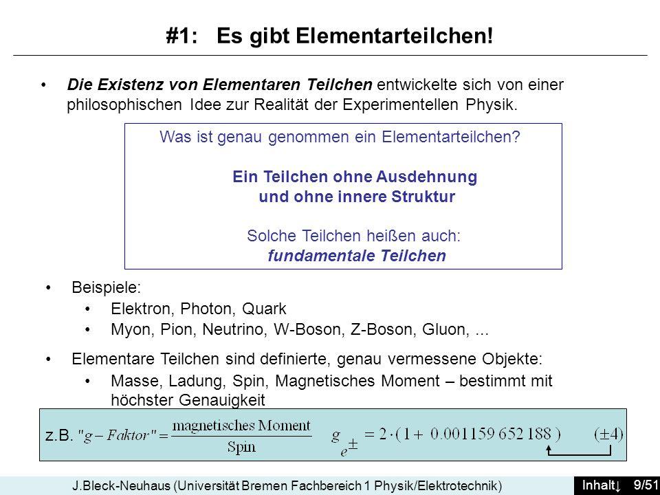 #1: Es gibt Elementarteilchen!