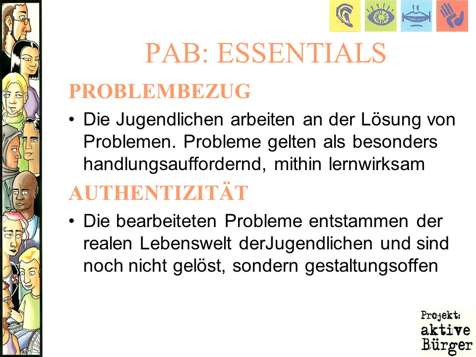 PAB: ESSENTIALS PROBLEMBEZUG AUTHENTIZITÄT
