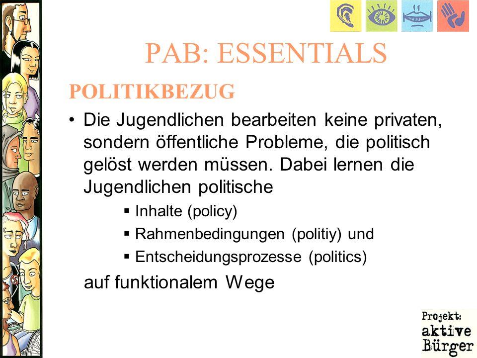 PAB: ESSENTIALS POLITIKBEZUG