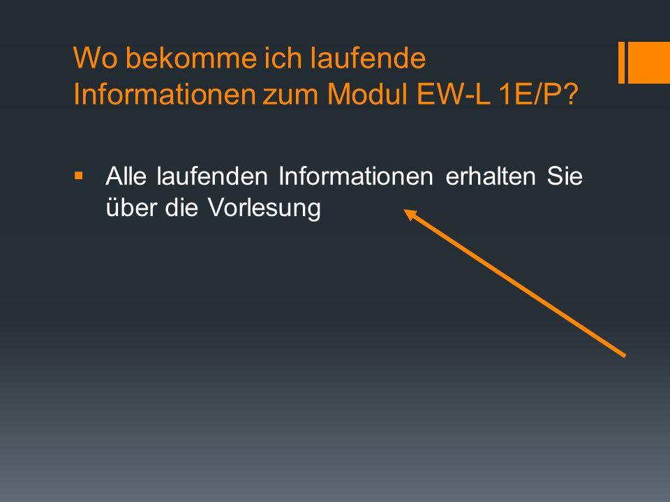 Wo bekomme ich laufende Informationen zum Modul EW-L 1E/P