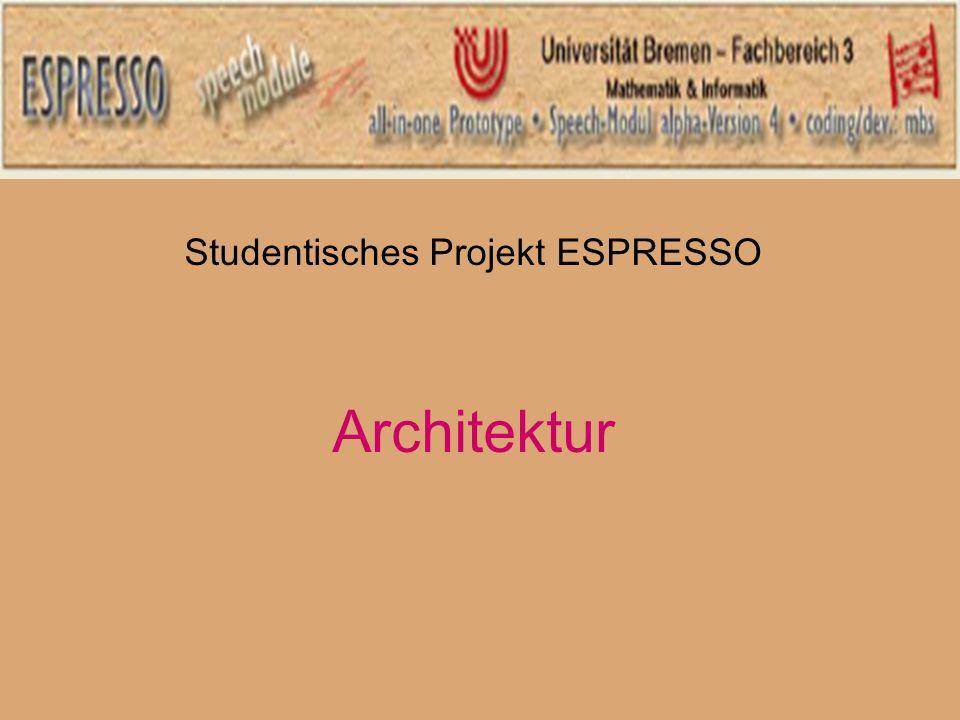 Studentisches Projekt ESPRESSO