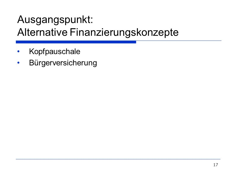Ausgangspunkt: Alternative Finanzierungskonzepte