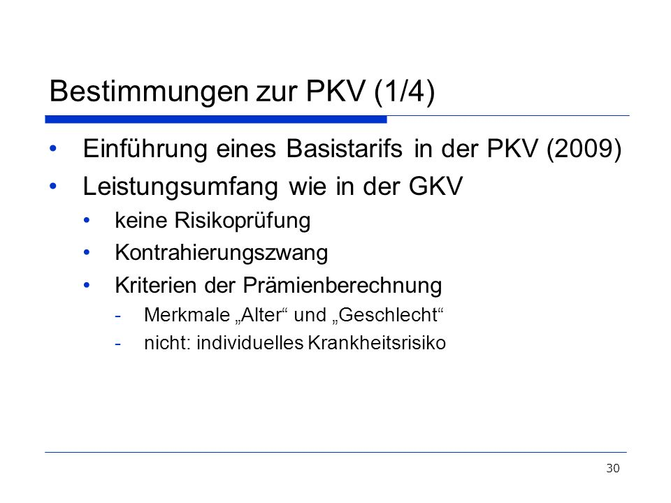 Bestimmungen zur PKV (1/4)