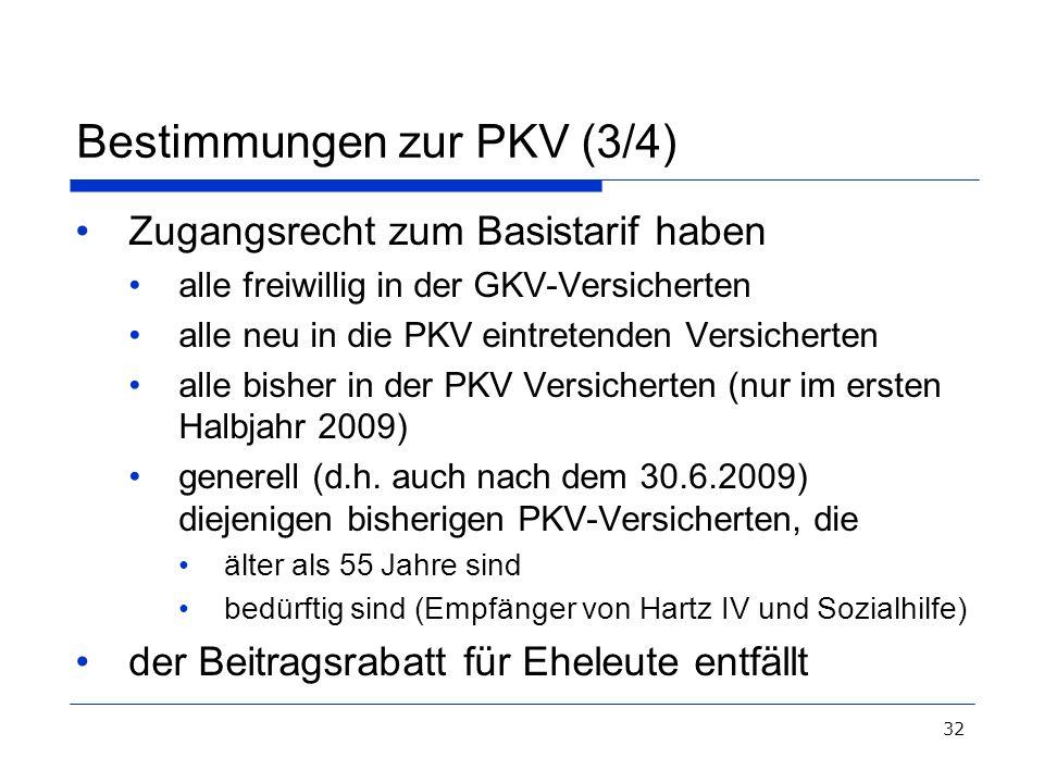 Bestimmungen zur PKV (3/4)