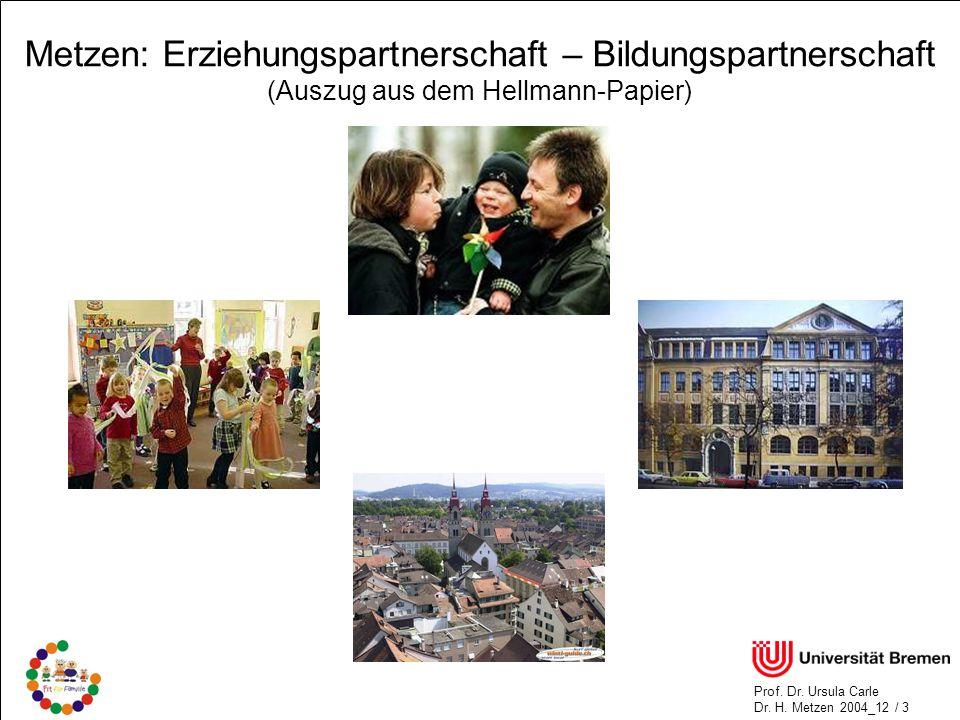 Metzen: Erziehungspartnerschaft – Bildungspartnerschaft