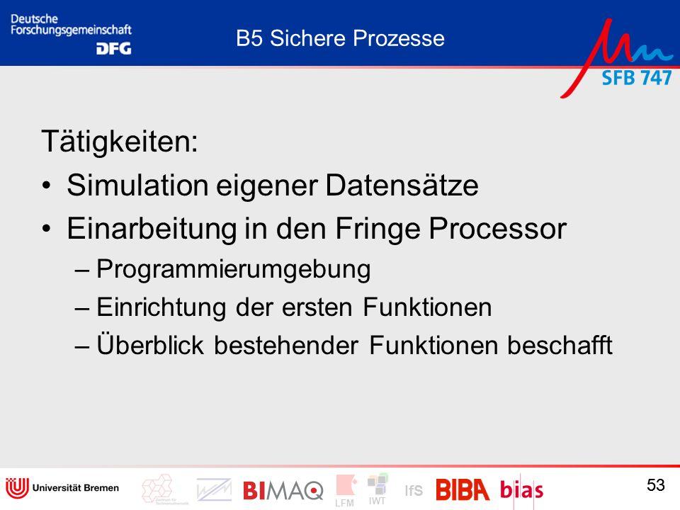 Simulation eigener Datensätze Einarbeitung in den Fringe Processor