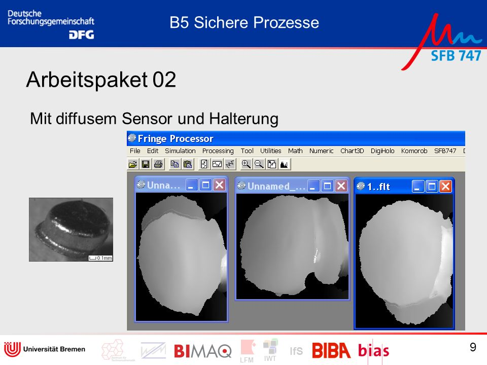 B5 Sichere Prozesse Arbeitspaket 02 Mit diffusem Sensor und Halterung