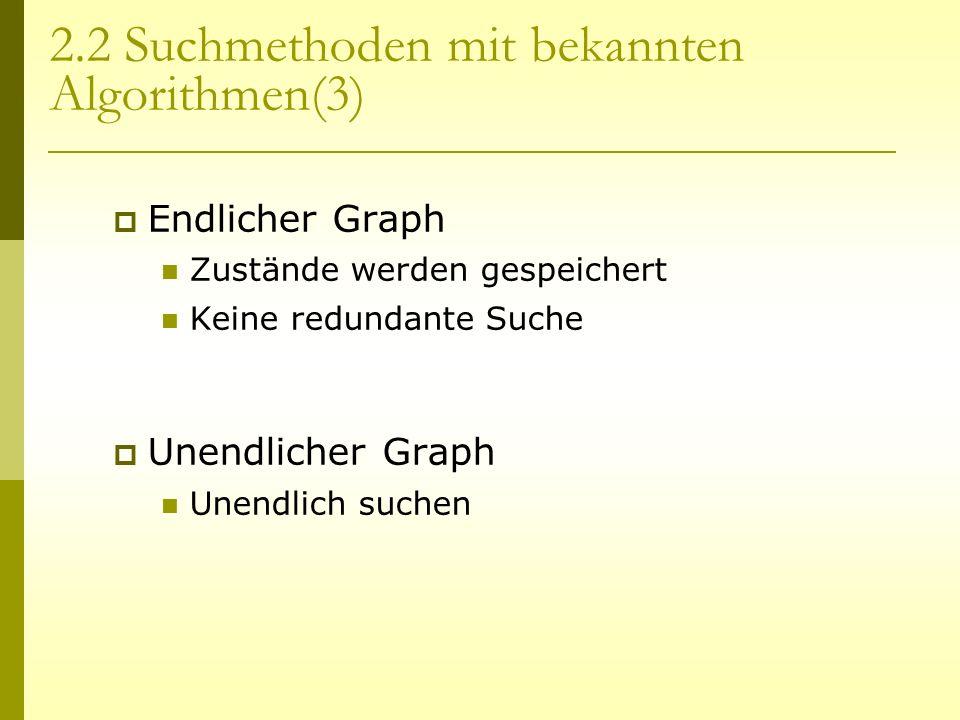 2.2 Suchmethoden mit bekannten Algorithmen(3)