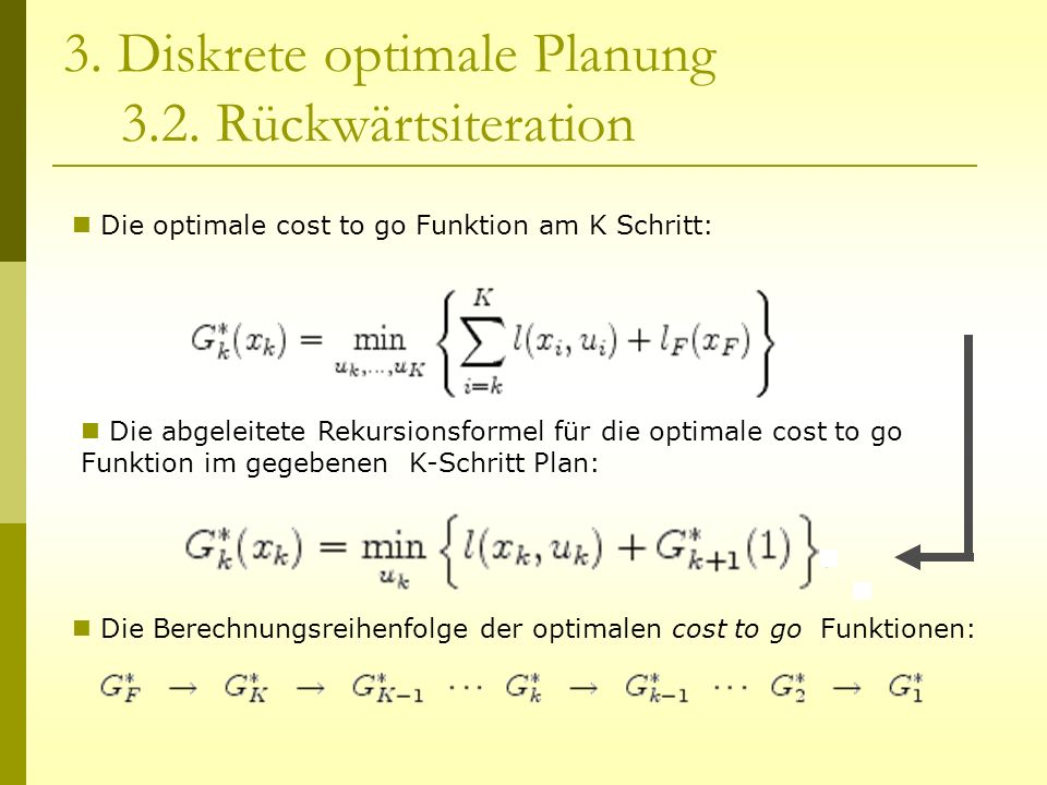 3. Diskrete optimale Planung 3.2. Rückwärtsiteration