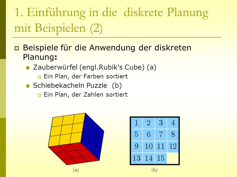 1. Einführung in die diskrete Planung mit Beispielen (2)