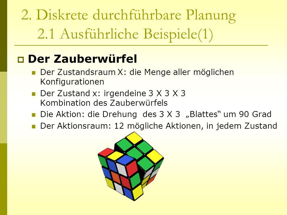 2. Diskrete durchführbare Planung 2.1 Ausführliche Beispiele(1)
