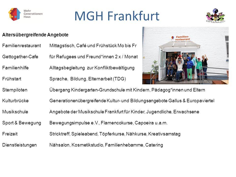 MGH Frankfurt Altersübergreifende Angebote