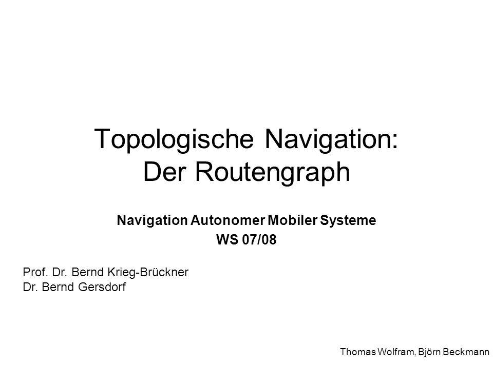 Topologische Navigation: Der Routengraph