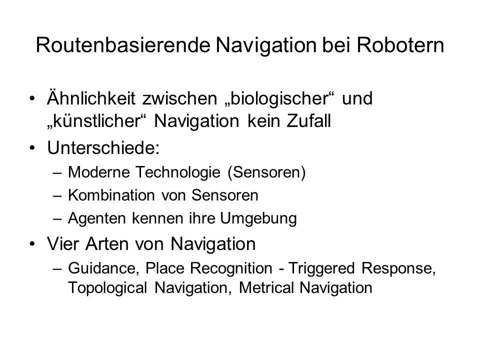 Routenbasierende Navigation bei Robotern