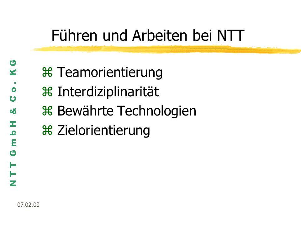 Führen und Arbeiten bei NTT