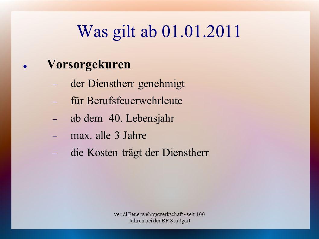 ver.di Feuerwehrgewerkschaft - seit 100 Jahren bei der BF Stuttgart