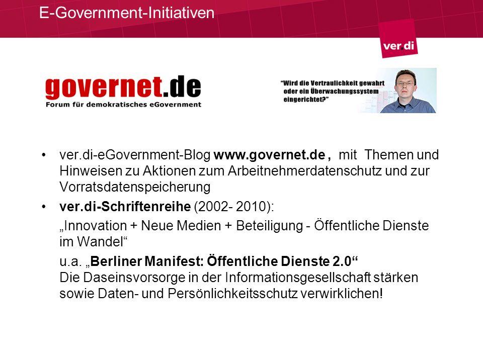 E-Government-Initiativen
