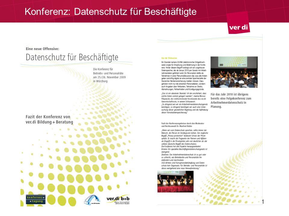 Konferenz: Datenschutz für Beschäftigte