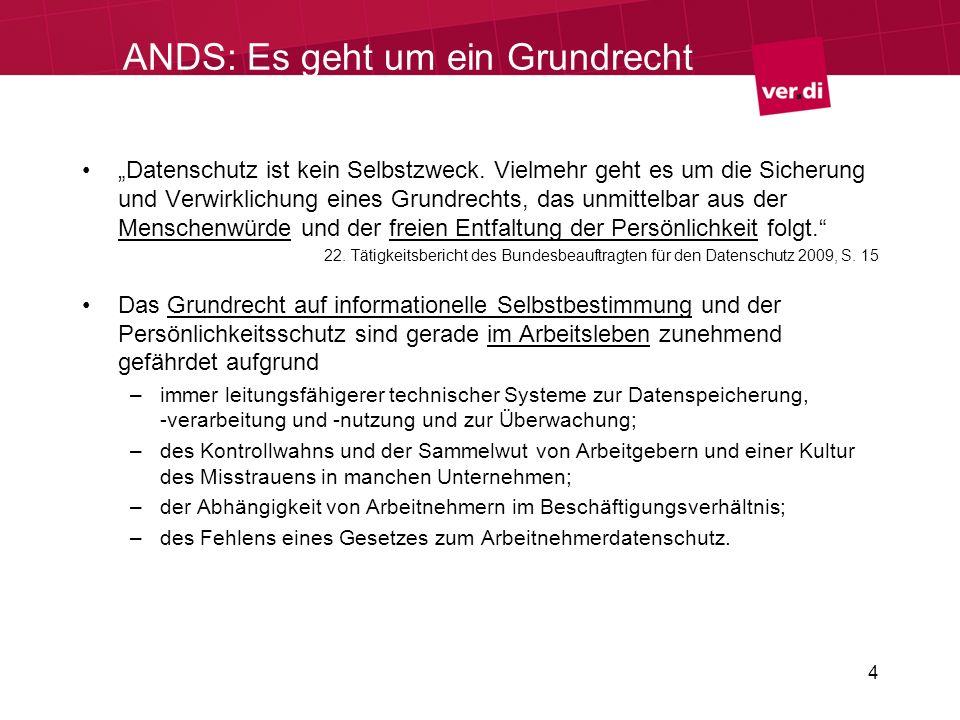 ANDS: Es geht um ein Grundrecht