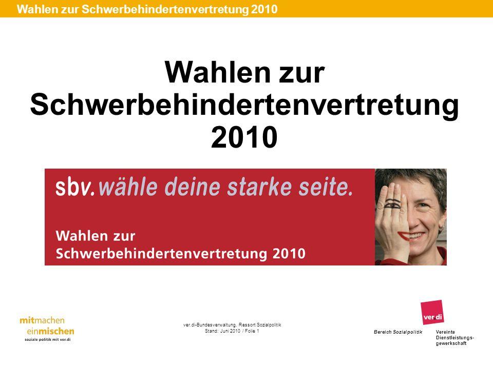 Wahlen zur Schwerbehindertenvertretung 2010