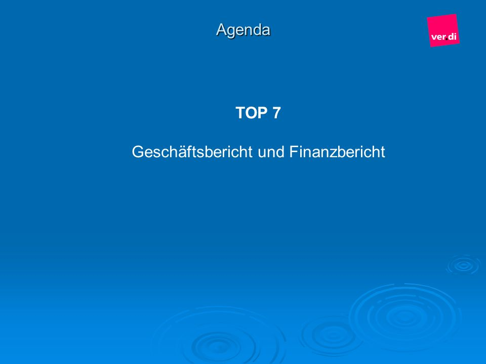 Geschäftsbericht und Finanzbericht