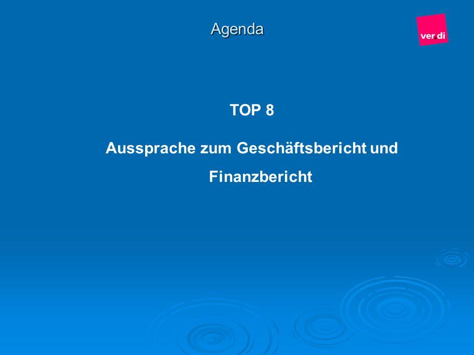 Aussprache zum Geschäftsbericht und Finanzbericht
