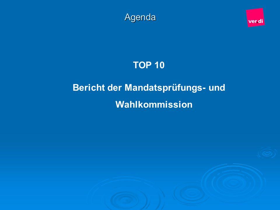 Bericht der Mandatsprüfungs- und Wahlkommission
