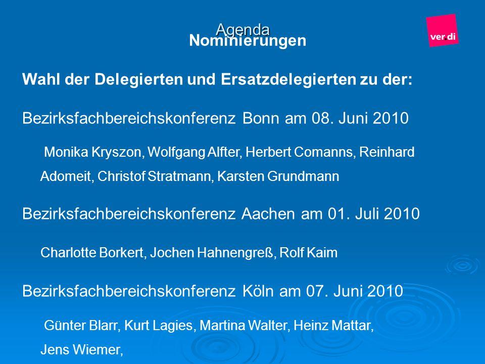 Wahl der Delegierten und Ersatzdelegierten zu der: