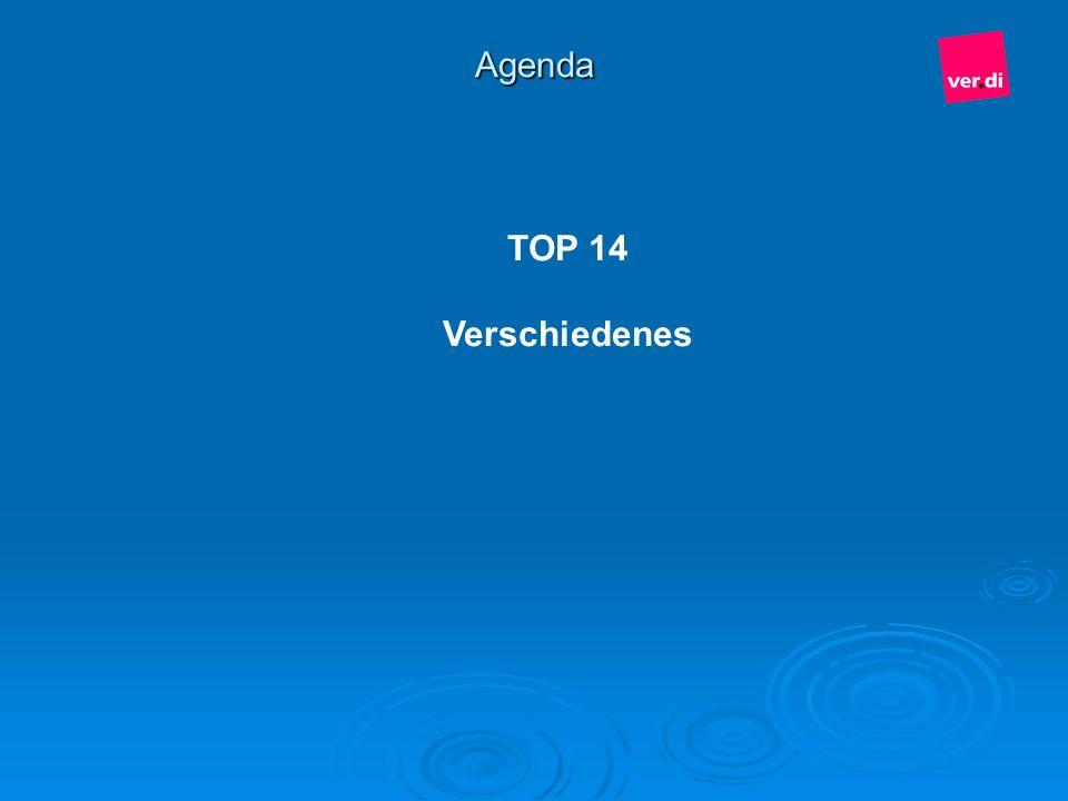 Agenda TOP 14 Verschiedenes