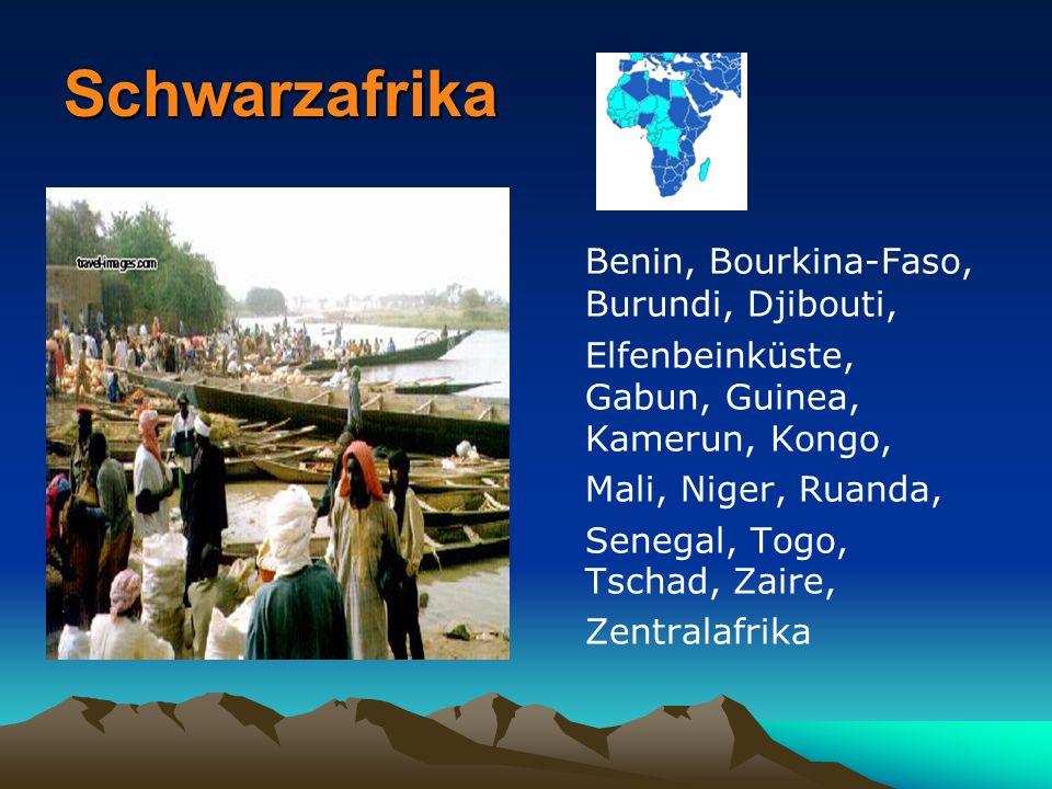 Schwarzafrika Benin, Bourkina-Faso, Burundi, Djibouti,