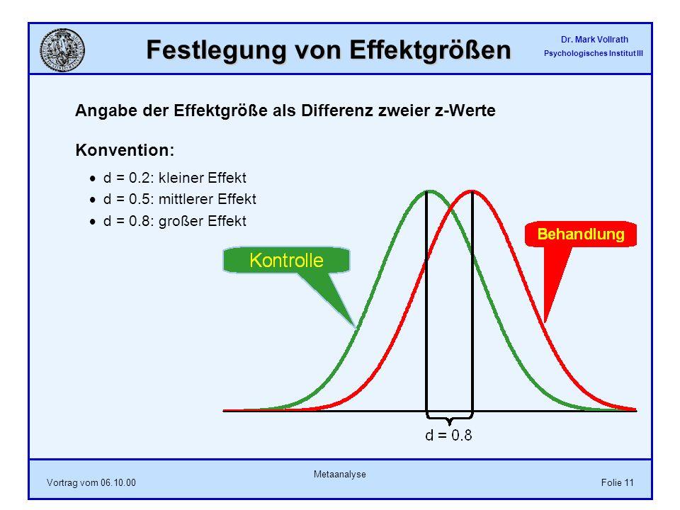 Festlegung von Effektgrößen