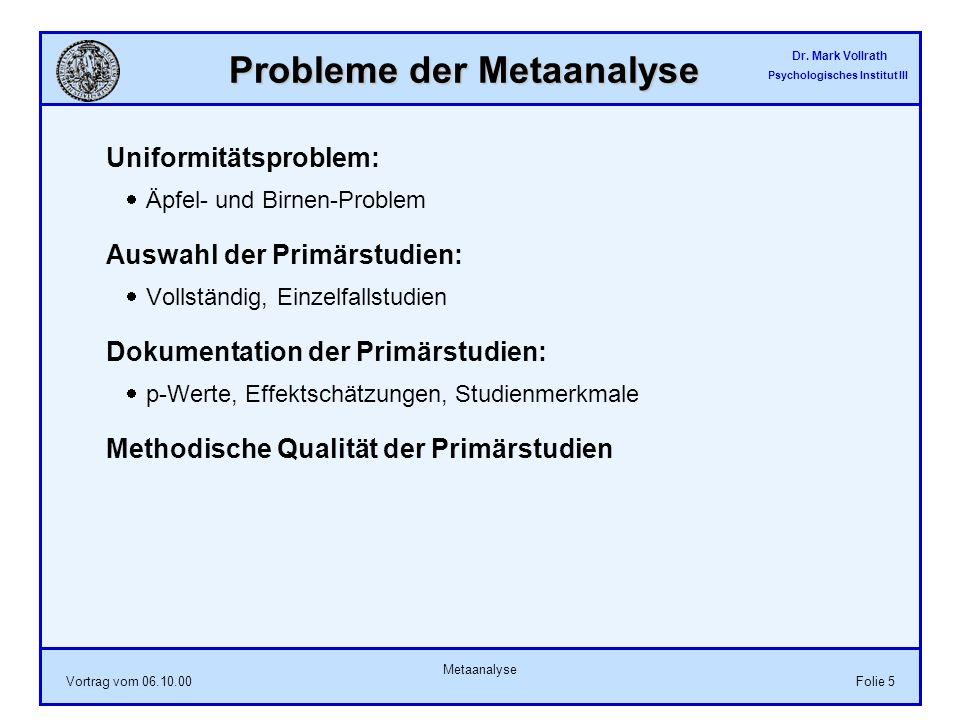 Probleme der Metaanalyse