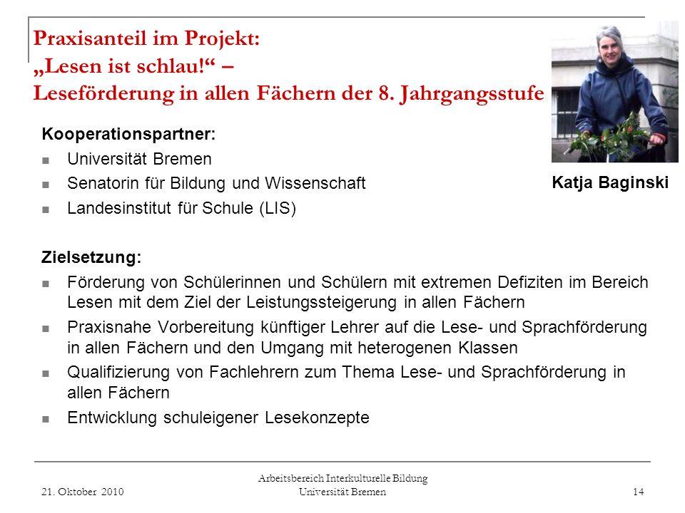 Arbeitsbereich Interkulturelle Bildung Universität Bremen