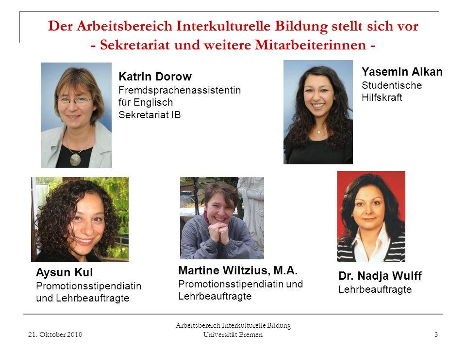 Arbeitsbereich Interkulturelle Bildung