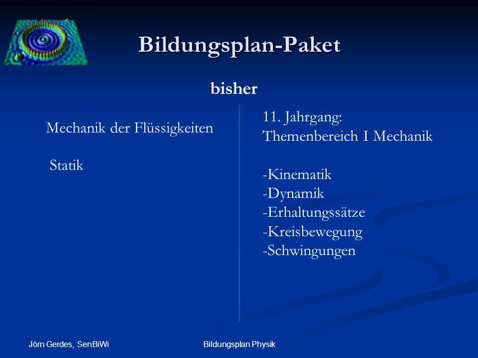 Bildungsplan-Paket bisher 11. Jahrgang: Mechanik der Flüssigkeiten