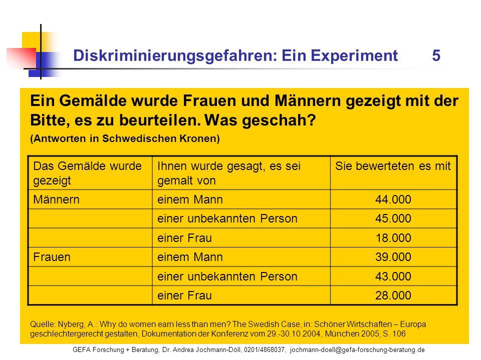 Diskriminierungsgefahren: Ein Experiment 5