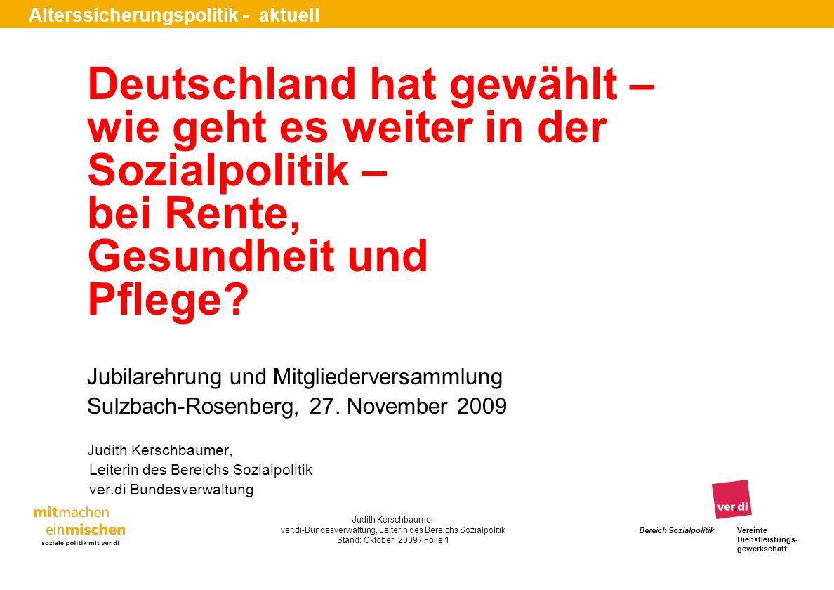 Deutschland hat gewählt – wie geht es weiter in der Sozialpolitik –