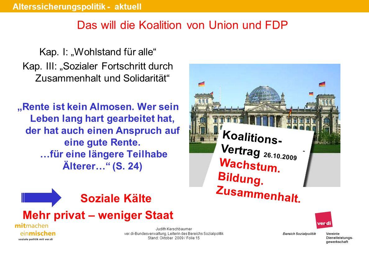 Das will die Koalition von Union und FDP