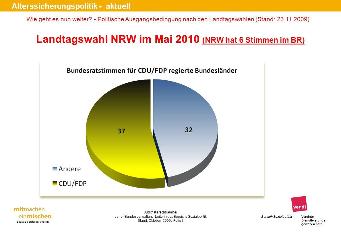 Landtagswahl NRW im Mai 2010 (NRW hat 6 Stimmen im BR)
