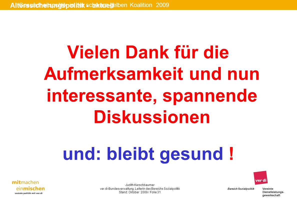 Gesundheitspolitik in der schwarz-gelben Koalition 2009