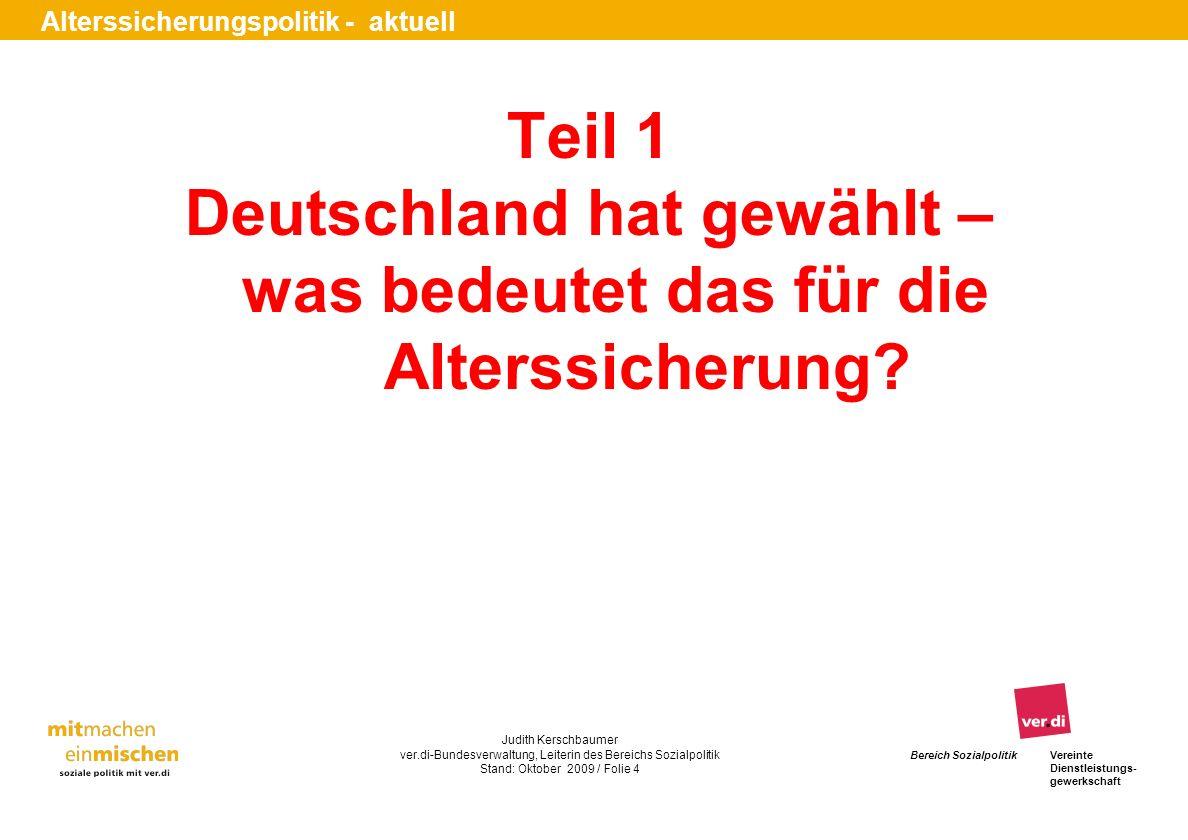Deutschland hat gewählt – was bedeutet das für die Alterssicherung
