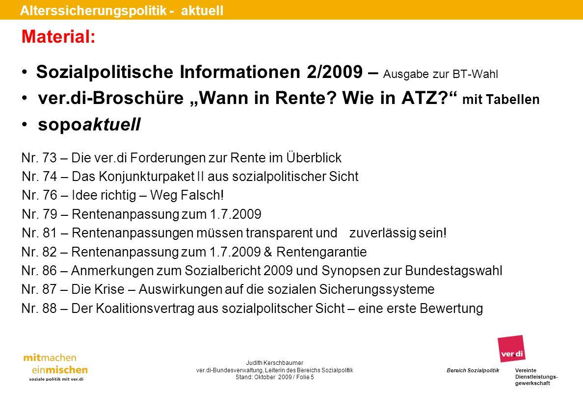 Sozialpolitische Informationen 2/2009 – Ausgabe zur BT-Wahl