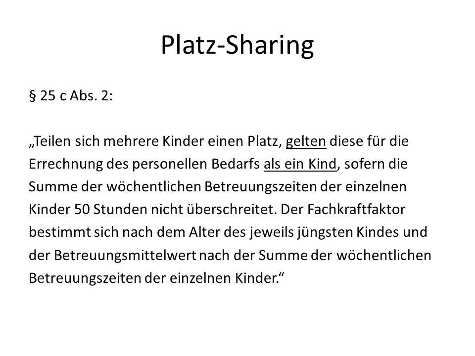 Platz-Sharing