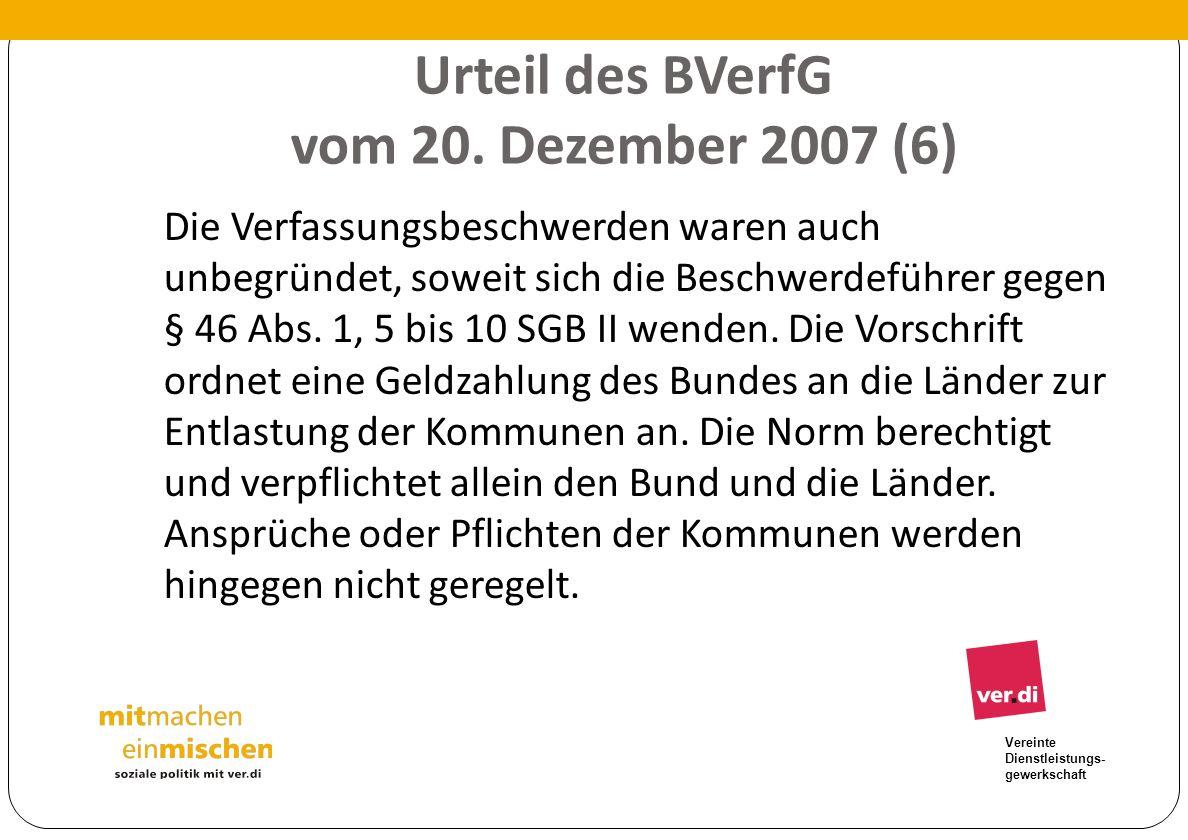 Urteil des BVerfG vom 20. Dezember 2007 (6)