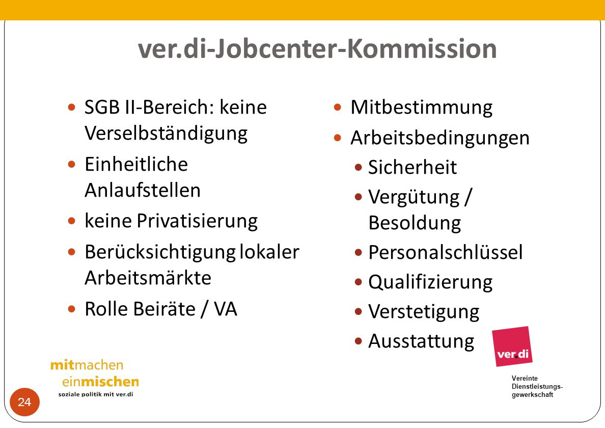 ver.di-Jobcenter-Kommission