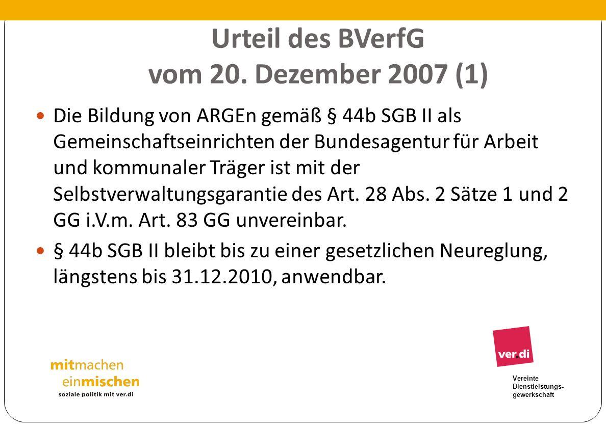 Urteil des BVerfG vom 20. Dezember 2007 (1)