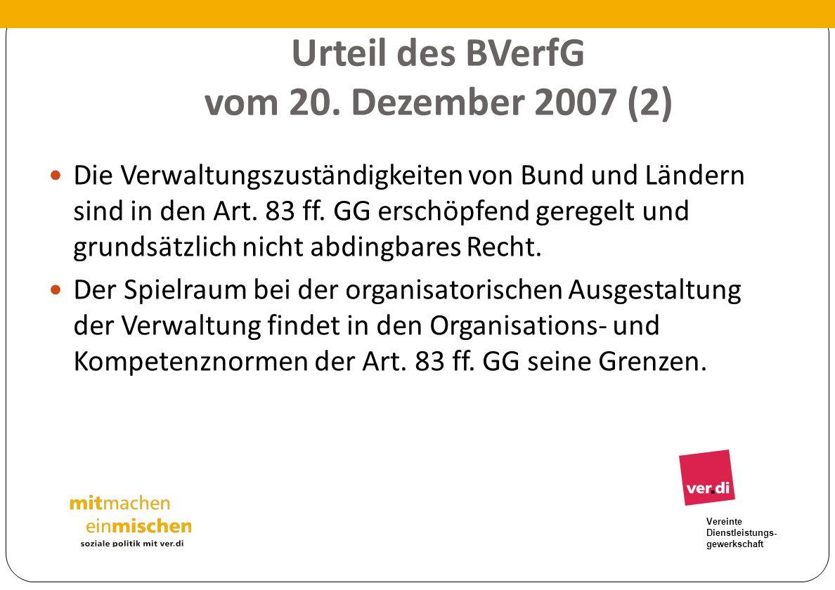 Urteil des BVerfG vom 20. Dezember 2007 (2)