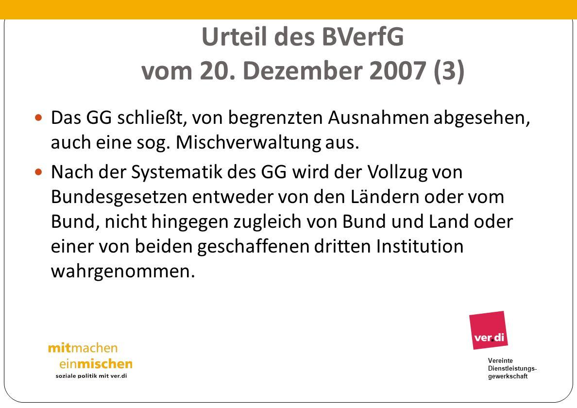 Urteil des BVerfG vom 20. Dezember 2007 (3)