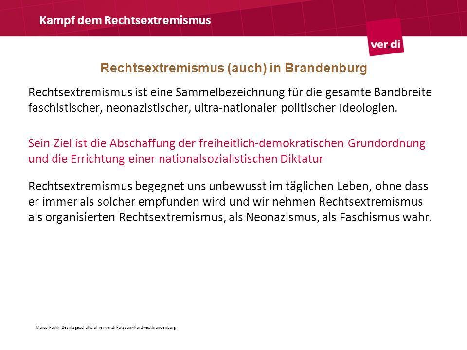 Rechtsextremismus (auch) in Brandenburg